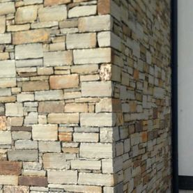 Varied shades with dressed corner stones