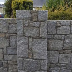 Grey granite with large hand dressed corners