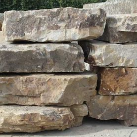 Large cream sandstone rock armour