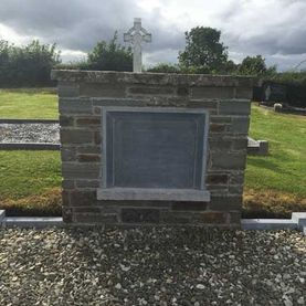 Bespoke memorial with sanded limestone kerbs