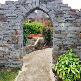 Bespoke Arch with hand dressed key stones